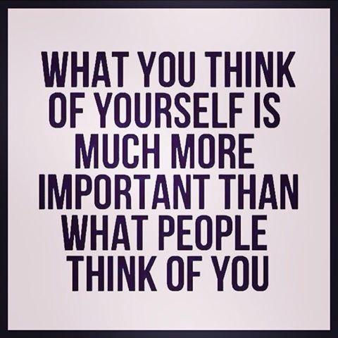 hvad du tænker om dig selv