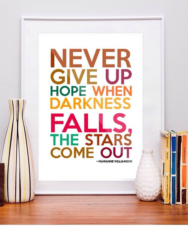 never give up - giv aldrig op - opgivelse